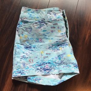 Pixie Shorts with Beach Pattern